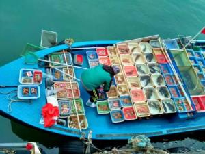 Floating market at Sai Kung