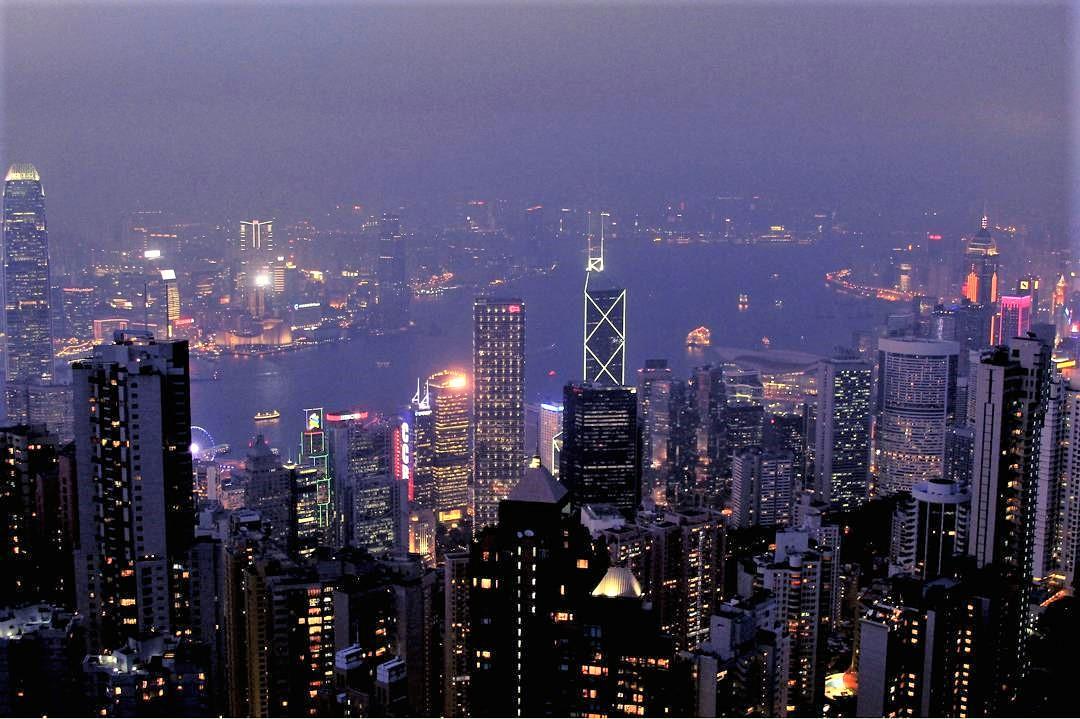 Hong Kong's glittery skyline