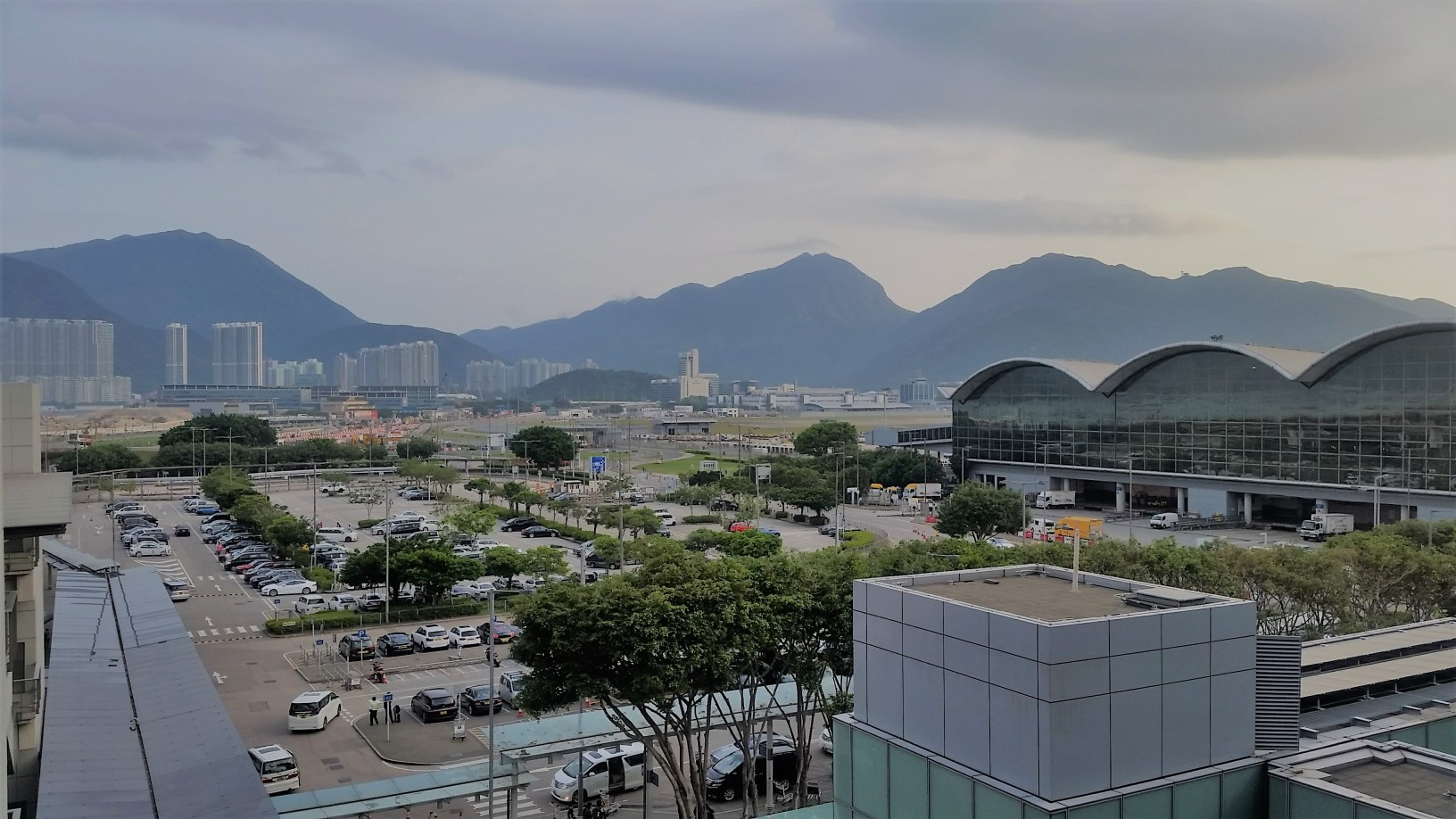First view of HK (from the airport)