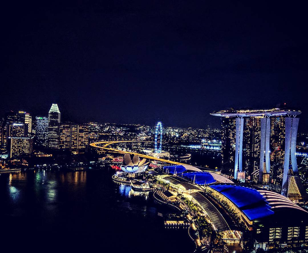 Singapore skyline from the top