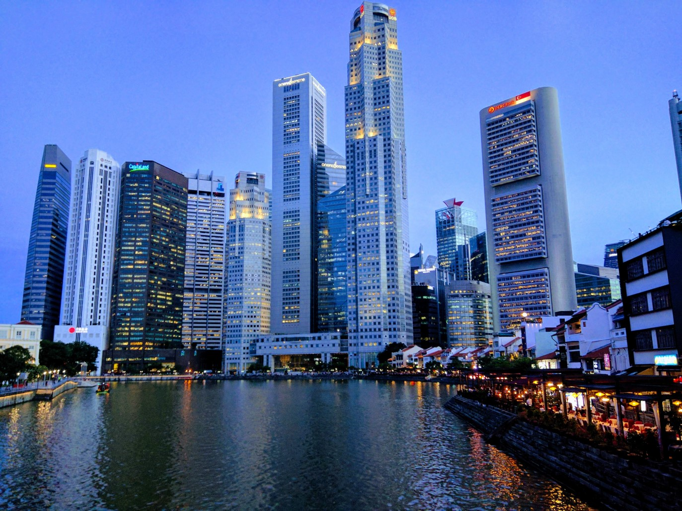 Skyscrapers in Raffles Place