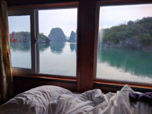 Waking up in Ha Long Bay