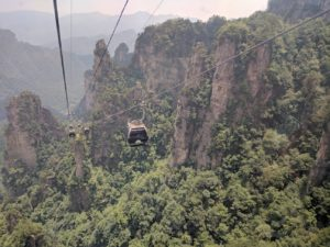 cable car ride to Tianzi mountain