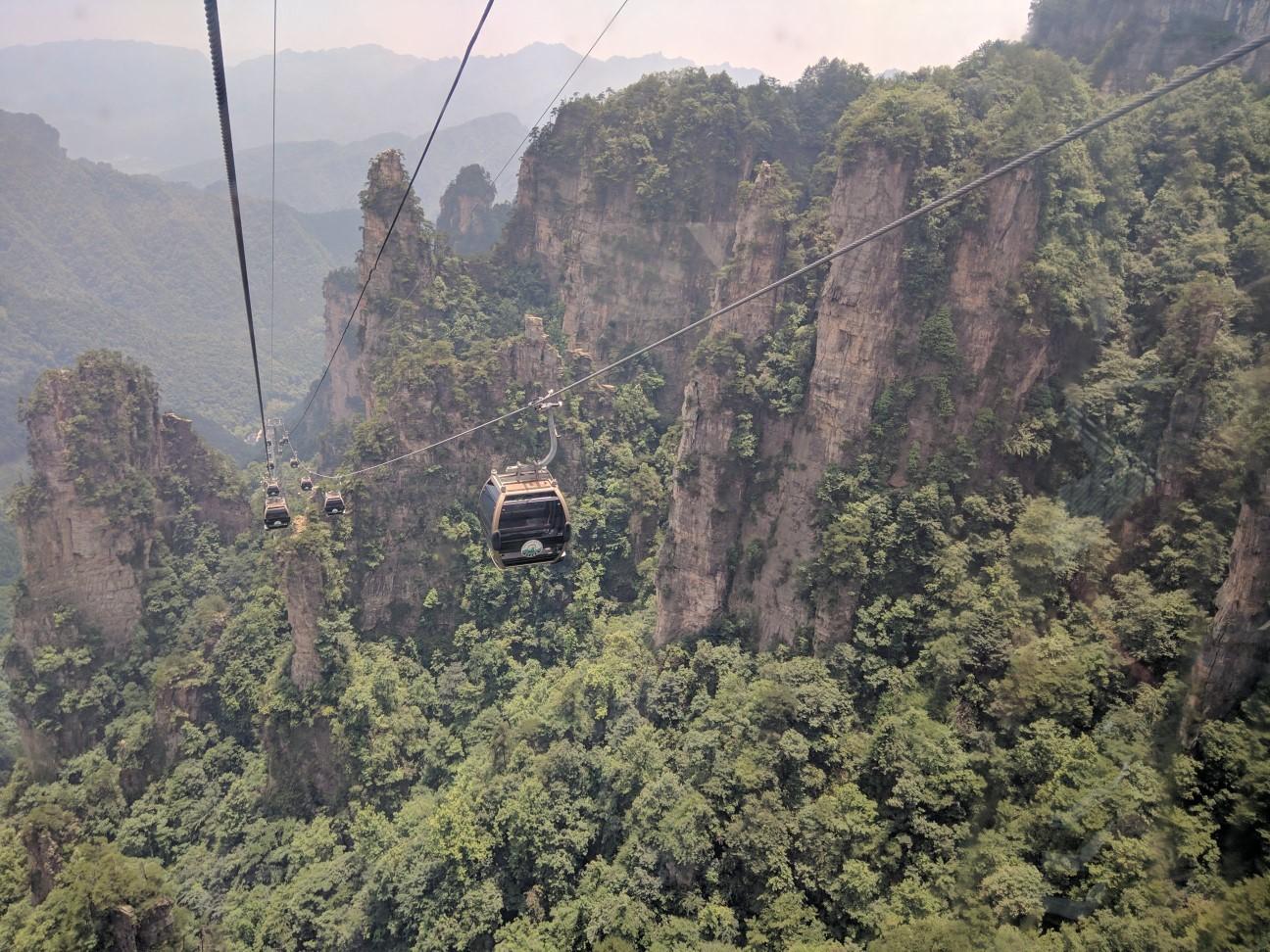 cable car ride to Tianzi mountain