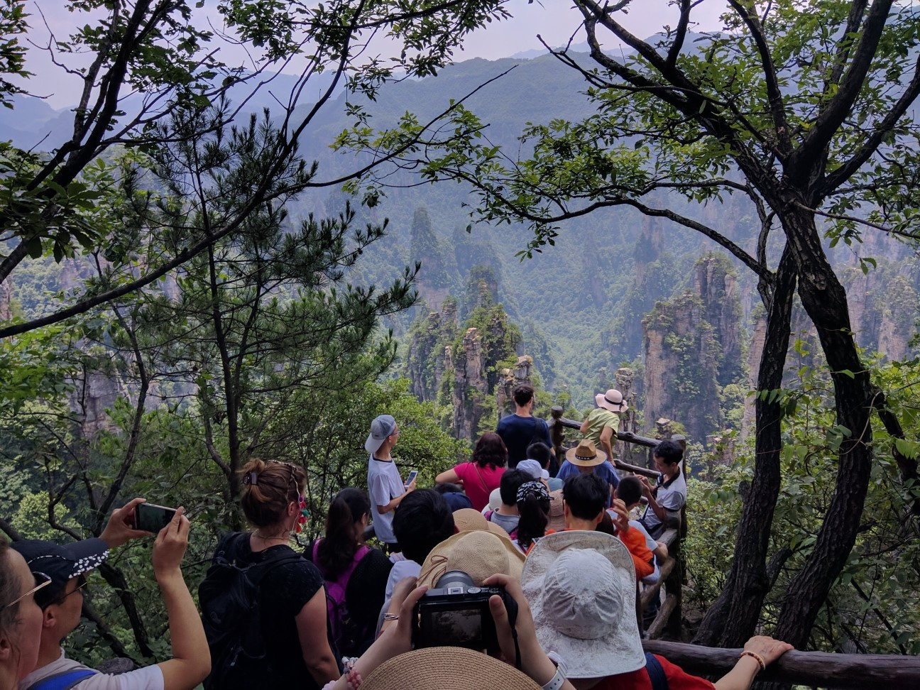 Plethora of crowds at Zhangjiajie