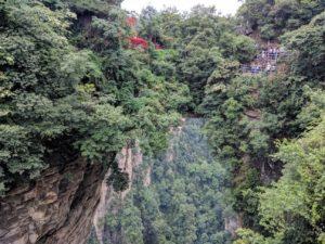 The natural sky bridge of Yuanjiajie